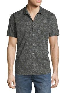 John Varvatos Men's Lion Graphic Print Shirt