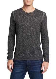 John Varvatos Men's Long-Sleeve Slub Jersey T-Shirt
