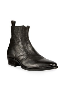 John Varvatos Men's Ludlow Vintage Leather Side-Zip Ankle Boots