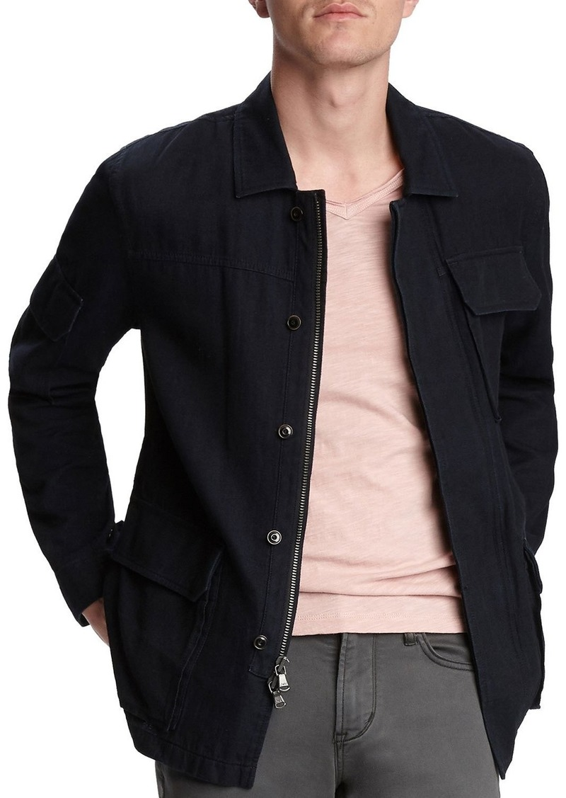John Varvatos Men's Mackey Indigo Field Jacket