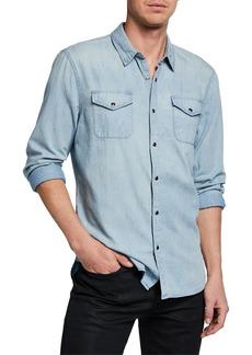John Varvatos Men's Marshall Chest-Pockets Sport Shirt