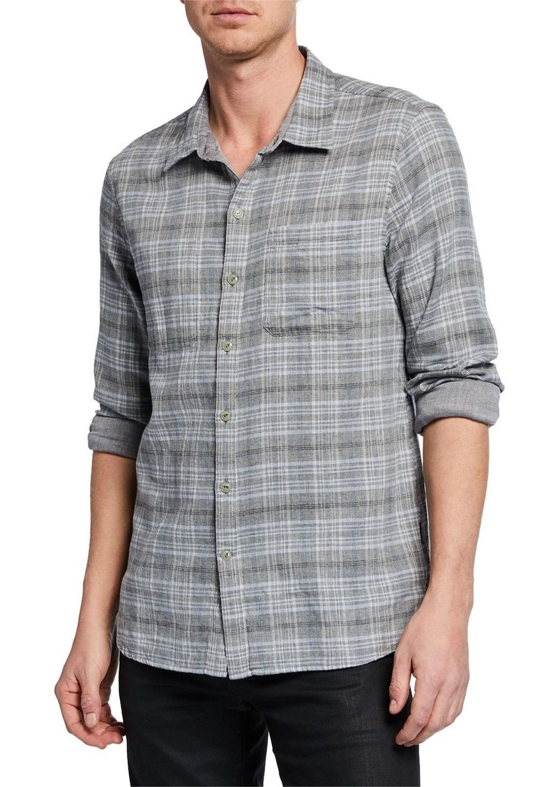 John Varvatos Men's Neil Reversed Sport Shirt