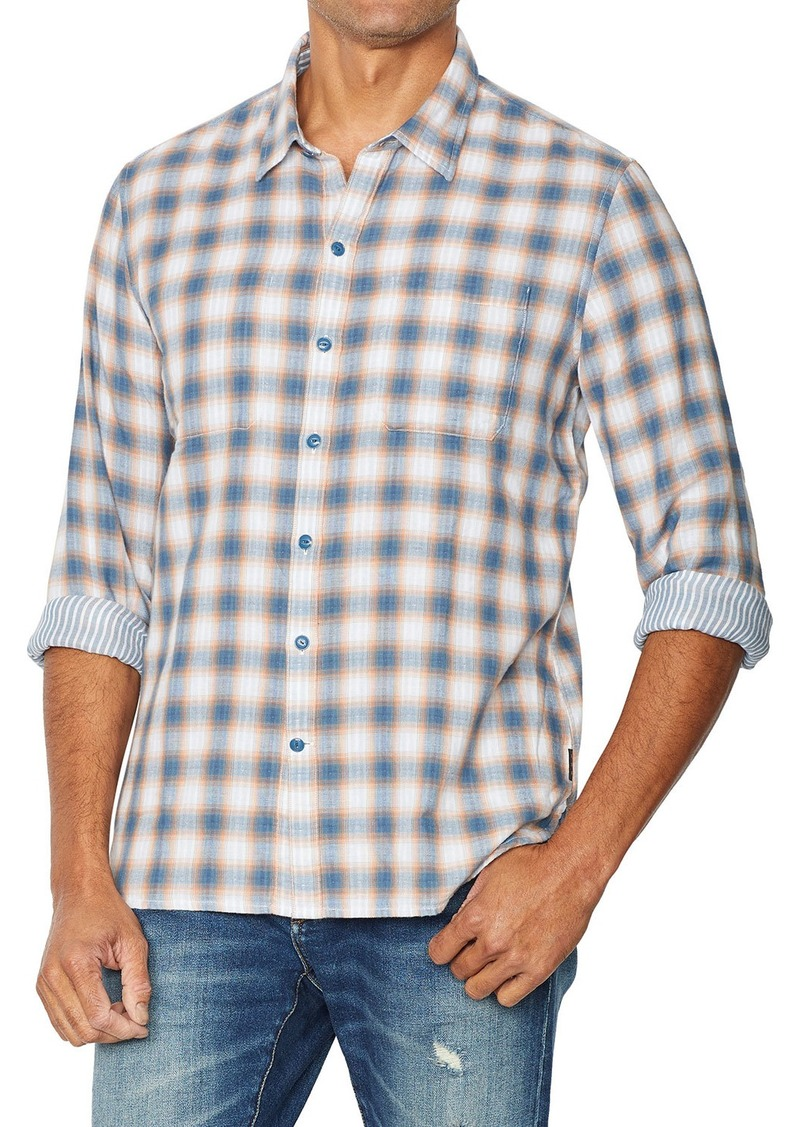 John Varvatos Men's Neil Reversible Plaid Sport Shirt