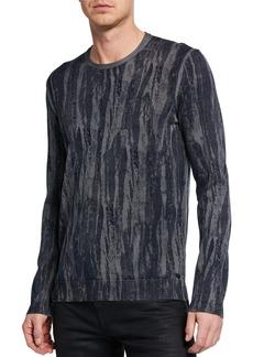 John Varvatos Men's Noah Distressed-Strokes Long-Sleeve T-Shirt