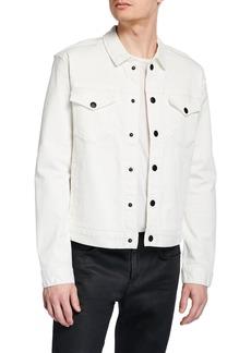 John Varvatos Men's Paul Snap-Front Trucker Jacket