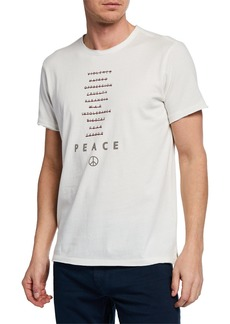 John Varvatos Men's Peace Typographic T-Shirt