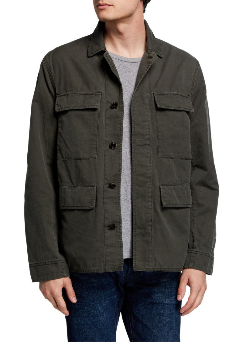John Varvatos Men's Perry Twill Field Jacket