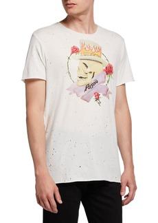 John Varvatos Men's Poison Skull Graphic Band T-Shirt