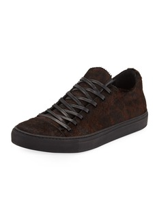 John Varvatos Men's Reed Leopard Calf-Hair Low-Top Sneaker