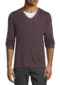 John Varvatos Men's Reverse-Seam Sweater