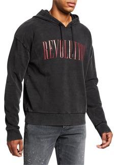 John Varvatos Men's Revolution Faded Hoodie Sweatshirt