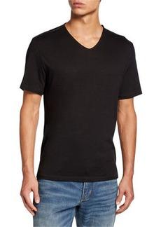 John Varvatos Men's Short-Sleeve V-Neck T-Shirt w/ Contrast Thread Detail