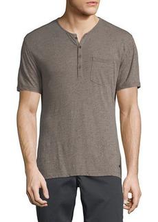John Varvatos Men's Splatter Print Henley Shirt