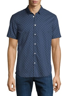 John Varvatos Men's Star-Print Short-Sleeve Sport Shirt