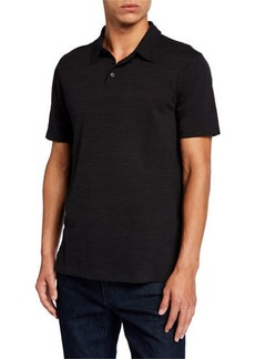 John Varvatos Men's Texture Stripe Polo Shirt