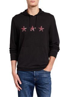 John Varvatos Men's Three-Star Pullover Hoodie Sweatshirt