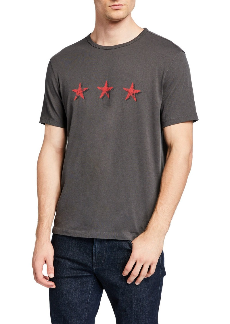John Varvatos Men's Three Stars T-Shirt