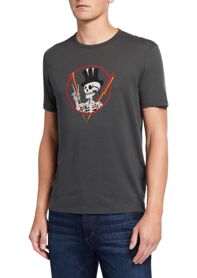 John Varvatos Men's Top Hat Skeleton Graphic T-Shirt