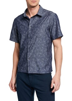 John Varvatos Men's Trent Short-Sleeve Sport Shirt