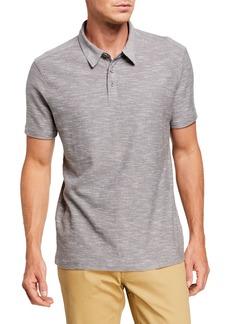 John Varvatos Men's Two-Tone Slub Polo Shirt