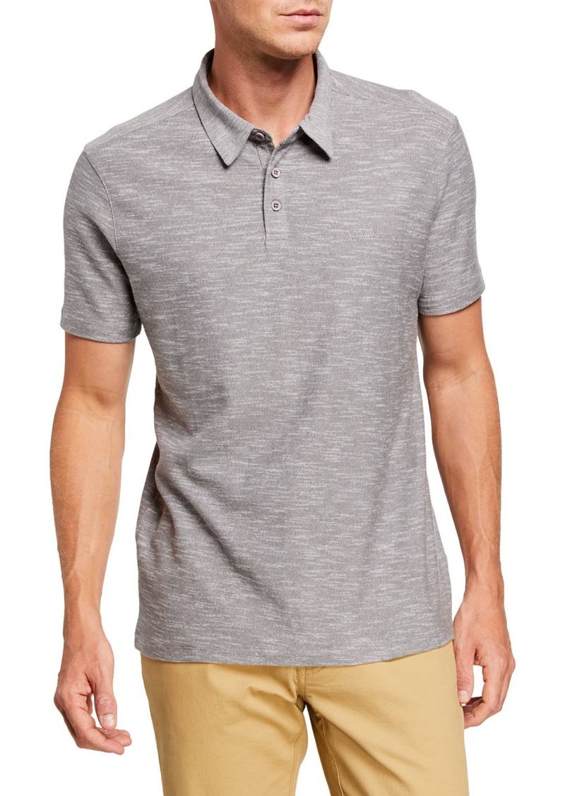 John Varvatos Men's Two-Tone Slub Polo Shirt