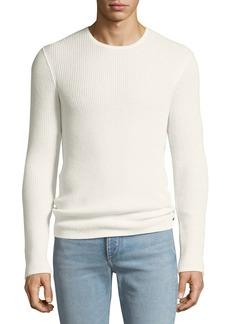 John Varvatos Men's Waffle-Knit Crewneck Sweater