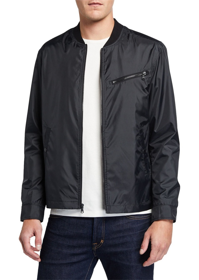 John Varvatos Men's Zip-Up Aviator Jacket