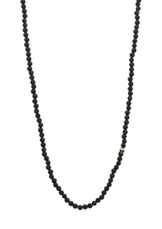 John Varvatos Mercer Brass & Lava Bead Necklace