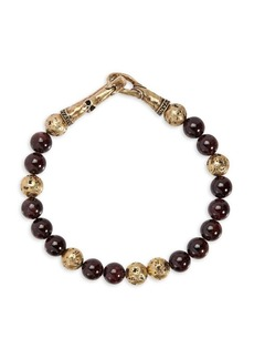 John Varvatos Mercer Brass & Red Garnet Bracelet