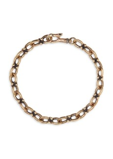 John Varvatos Mercer Brass Chain Bracelet