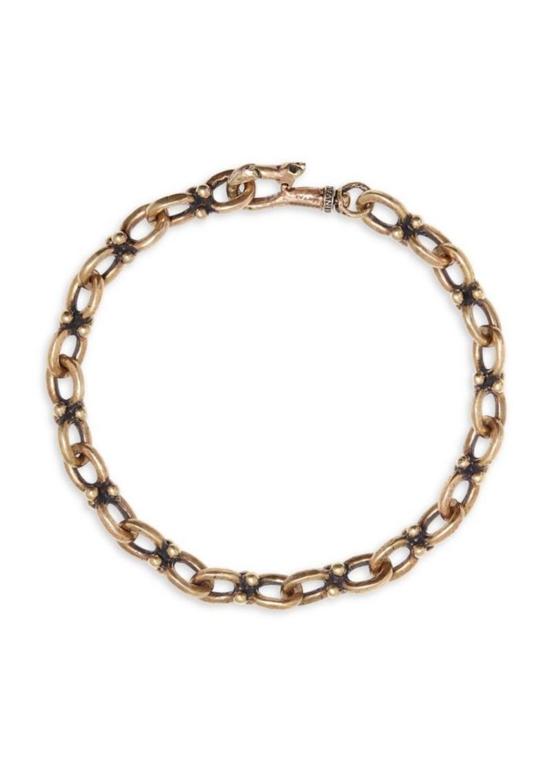 John Varvatos Mercer Brass Chain Bracelet