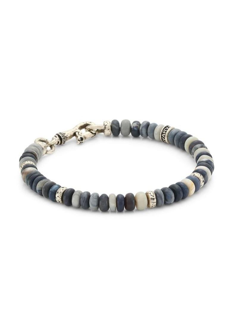 John Varvatos Mercer Opal Rondelle Beaded Sterling Silver Bracelet