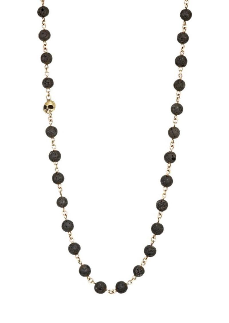 John Varvatos Mercer Sterling Silver & Lava Bead Necklace