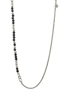 John Varvatos Mercer Sterling Silver & Lava Bead Necklace