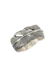 John Varvatos Mercer Sterling Silver Feather Ring