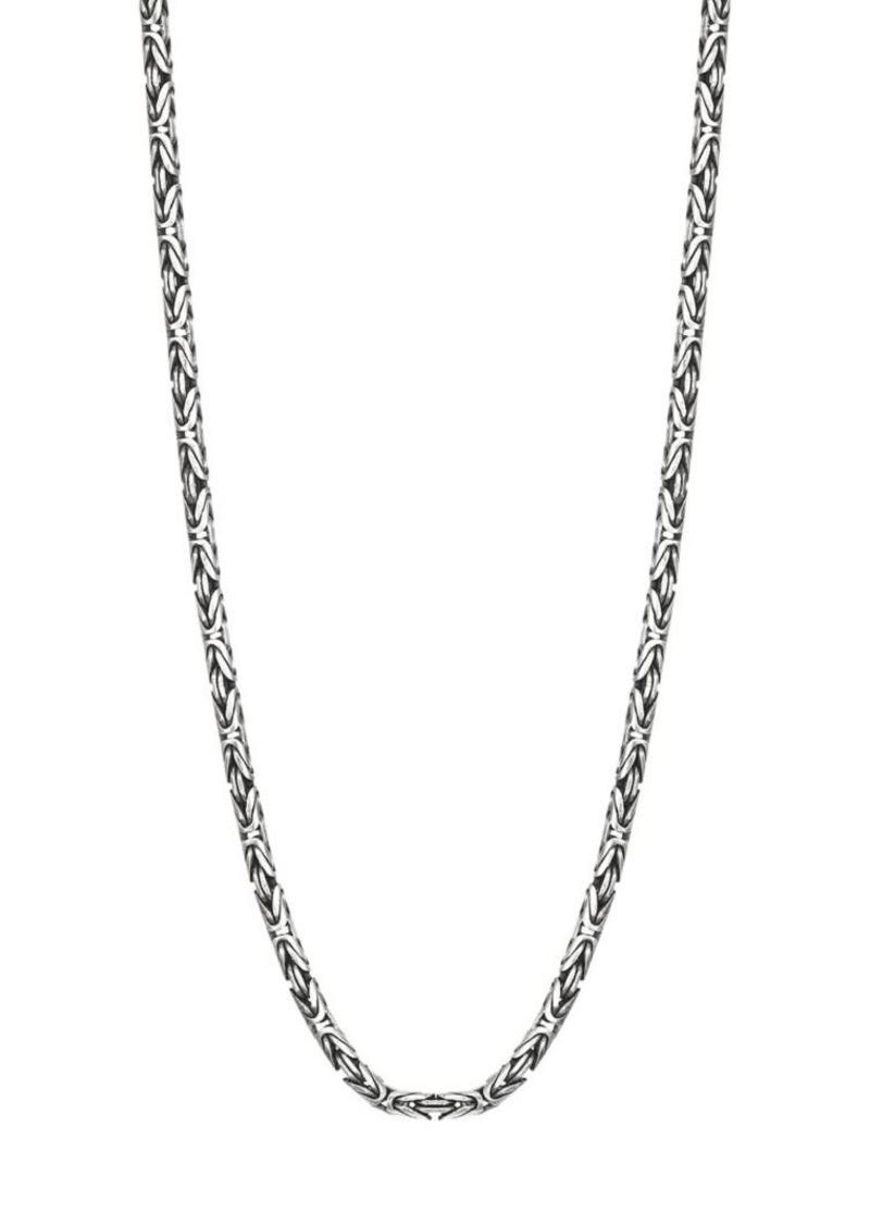John Varvatos Mercer Sterling Silver Woven Necklace