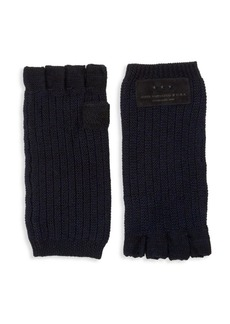 John Varvatos Merino Wool Knit Fingerless Gloves