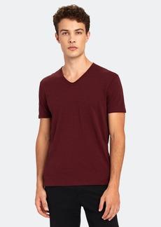 John Varvatos Miles Short Sleeve Slub V-Neck T-Shirt