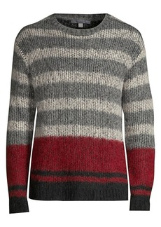 John Varvatos Multicolor Stripe Alpaca-Blend Knit Sweater