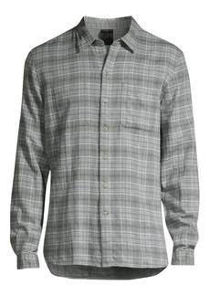 John Varvatos Neil Reversible Plaid Shirt