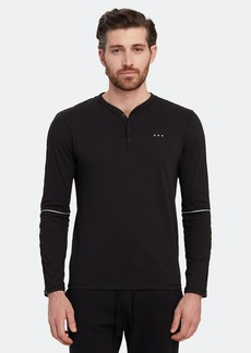 John Varvatos Oakland Long Sleeve Snap Henley
