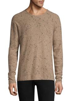 John Varvatos Oversize Wool & Cashmere Crewneck Sweater