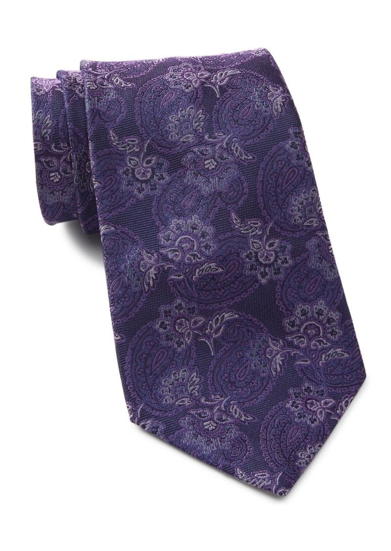John Varvatos Paisley Floral Wide Silk Tie