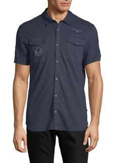 John Varvatos Patch Short-Sleeve Shirt