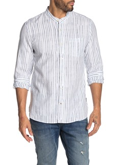 John Varvatos Paul Shibori Striped Regular Fit Shirt