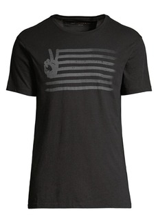 John Varvatos Peace Flag Graphic T-Shirt