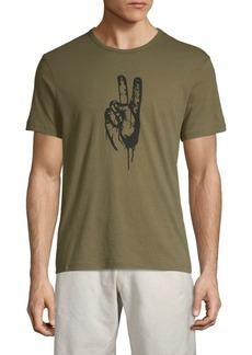 John Varvatos Peace Hand Graphic Tee