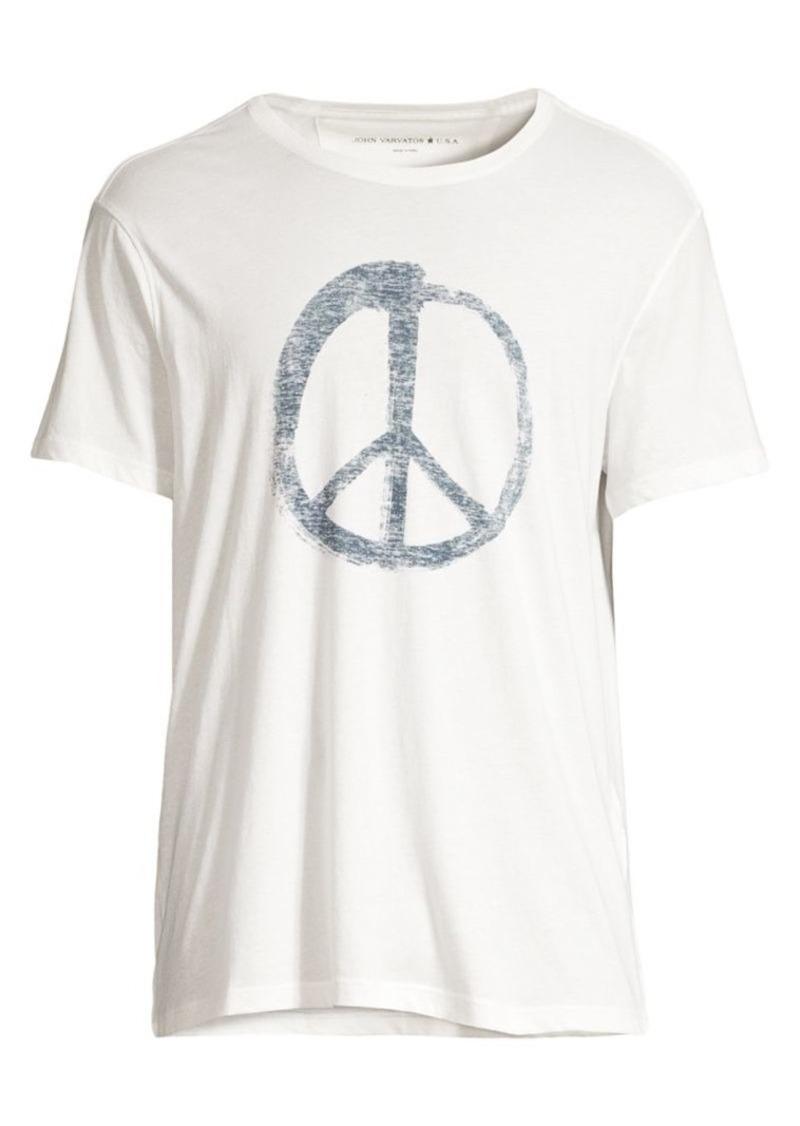 John Varvatos Peace Symbol Graphic Tee