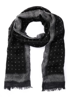 John Varvatos Pin Stripe & Star Print Scarf