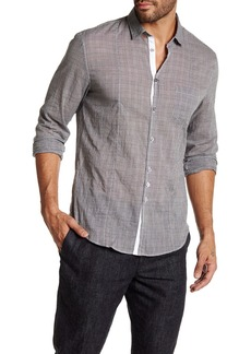John Varvatos Plaid Long Sleeve Slim Fit Shirt